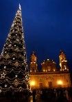 El árbol de Navidad de la Plaza Bolívar en Bogotá.