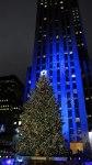 Aspecto general del lugar donde se realiza la ceremonia anual de encendido del árbol de Navidad del Rockefeller Center en Nueva York (EE.UU.).