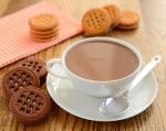 Para los niños, chocolate caliente con malvaviscos