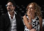 Sergey Brin, director ejecutivo de Google, y Diane en la presentación de la colección primavera - verano 2013.