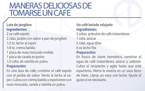 Maneras deliciosas de tomarse un café
