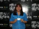 Andrea Sanz, ganadora del concurso en la ciudad de Quito.