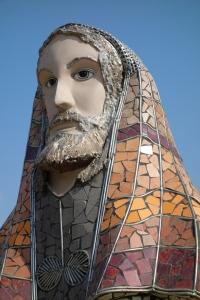 La escultura de Jesús, que tiene 2.70 metros de alto.