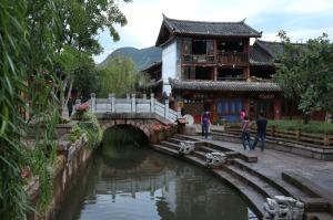 Uno de los puentes que cruza la plaza llamada Square Market.