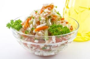 Las legumbres y ensaladas son parte fundamental de la dieta.