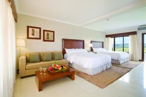 Suite family, una de las cómodas habitaciones del resort.