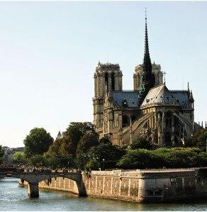 Una imagen de la isla sobre el río Sena en la que se ubica la catedral de Notre-Dame.