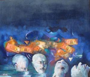 Obra de la serie Migrantes, del 2008