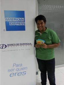 Consta en la foto: Michael Luis Jiménez Chávez uno de nuestros felices ganadores.