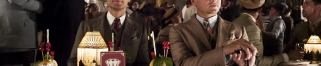 Tobey Maguire, quien interpreta a Nick Carraway, junto a Leonardo DiCaprio como Gatsby.