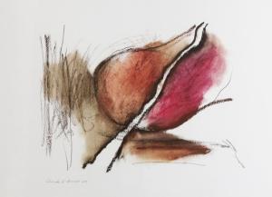Oleo, acuarela, lápiz y carboncillo son algunos de los materiales con los que elabora cada una de sus obras.