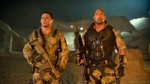 Escena de la película G.I. Joe: Retaliation, protagonizada por Channing Tatum y Dwayne Jhonson.