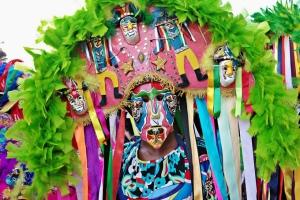 Hombre disfrazado durante el carnaval de Recife, Brasil.