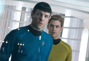 Spock (Zachary Quinto) y Kirk, interpretado por Chris Pine.