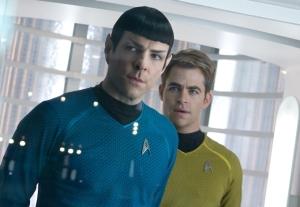 Spock (Zachary Quinto) y Kirk, interpretado por Chris Pine.