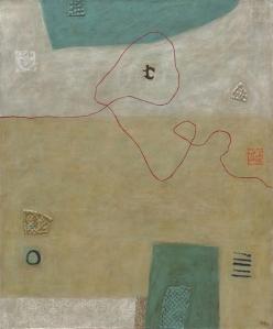 Una de las piezas de la muestra Hilaturas, de Gigi de Durán Ballén.