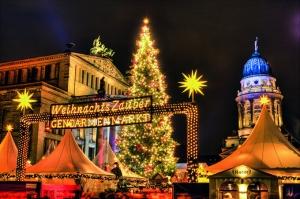 Mercado de Navidad en el Gendarmenmarkt de Berlín.