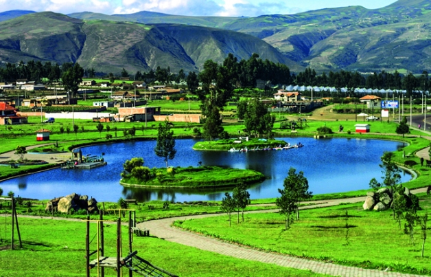 Cayambe y su parque recreativo.