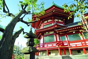 Templo en el parque Ueno, en Tokio.