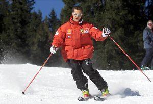 Una imagen de Michael Schumacher esquiando en la estación italiana de Madonna di Campiglio, Italia. . EFE / EPA / ERCOLE COLOMBO
