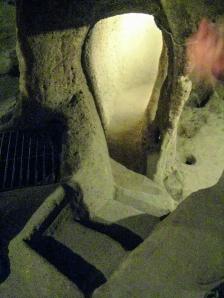 Imagen de unos de los pasadizos de la ciudad subterránea de Derinkuyu.