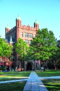 La arquitectura gótica de Yale.