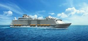"""Harmony of the Seas"""" (Royal Caribbean)se estrenará en mayo con viajes de siete noches de Barcelona a Mallorca, Marsella, Florencia, Roma y Capri."""